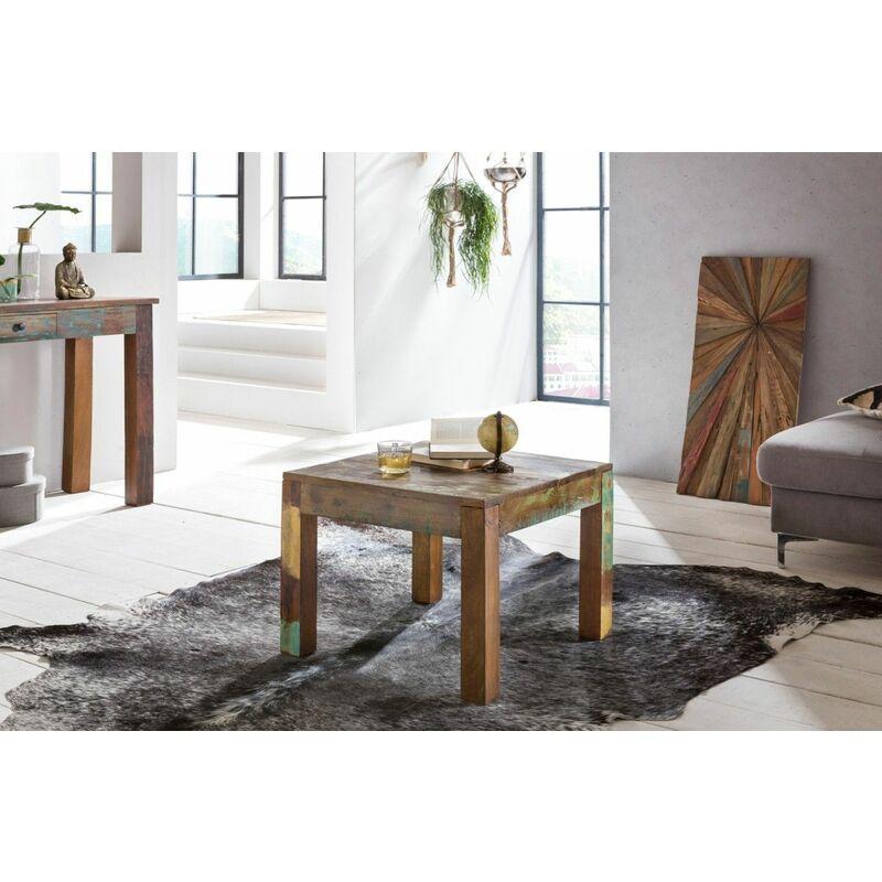 Fun Möbel - Couchtisch Massivholztisch SURAT 60x60cm Holz Mango Shabby-Chic