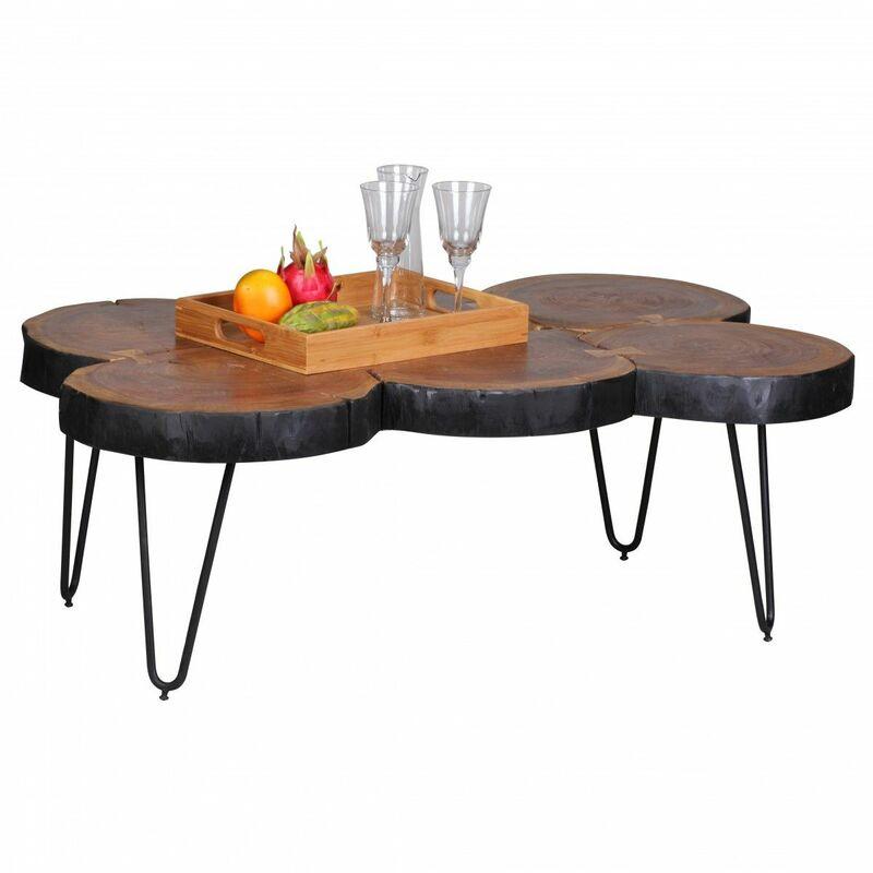 Fun Möbel - Couchtisch Massivholztisch WABEN 110x60 cm Holz Sheesham
