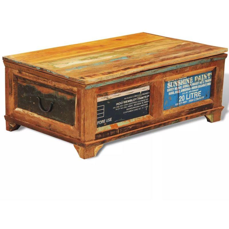 Couchtisch Mit Stauraum Vintage Recyceltes Holz