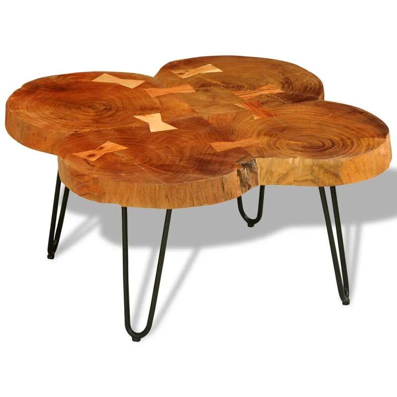 Vidaxl - Couchtisch 35 cm 4 Baumscheiben Massivholz