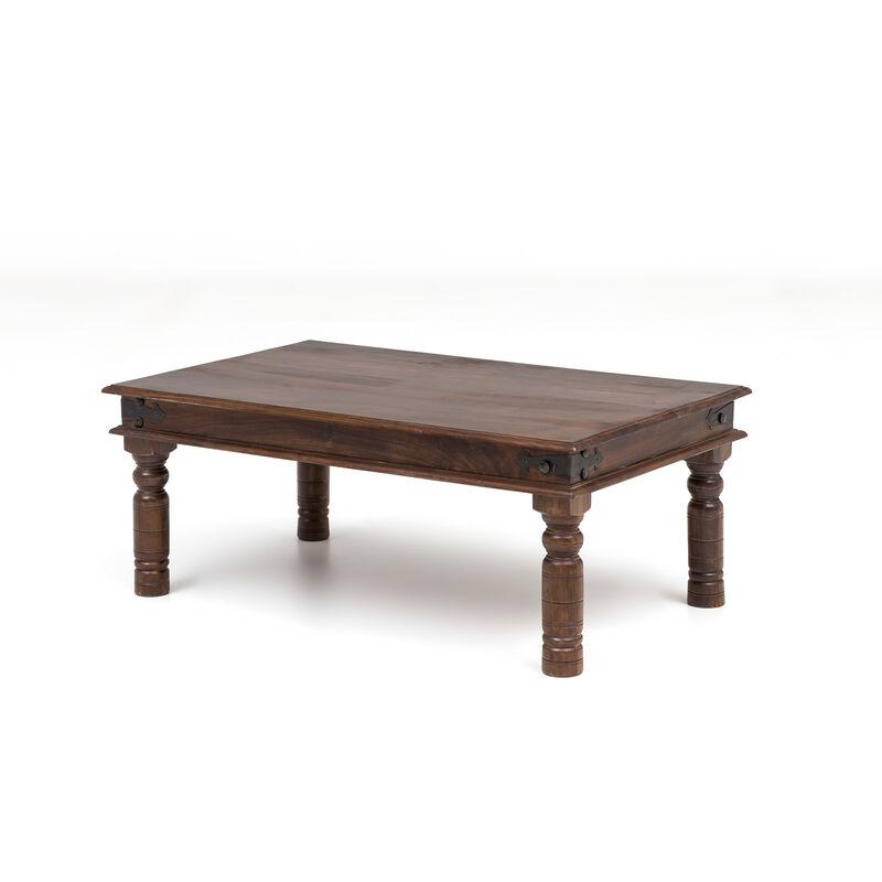 Dynamic24 - Couchtisch Thakat Opium Akazie massiv Holz Wohnzimmertisch Sofatisch Tisch A00000342