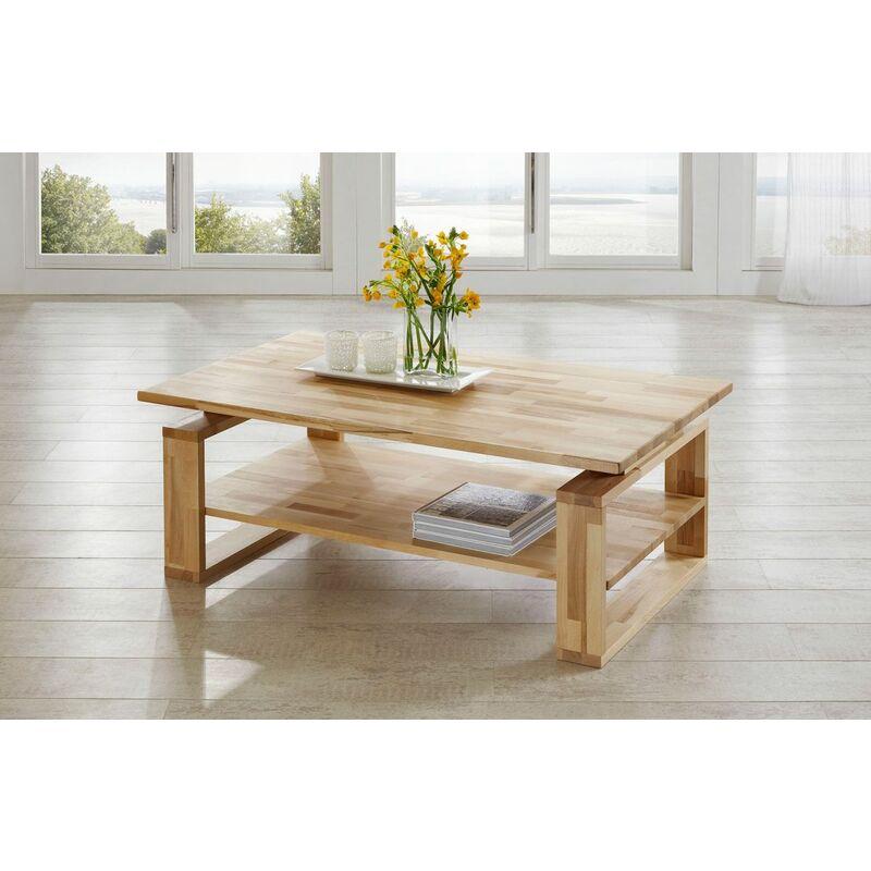 Fun Möbel - Couchtisch Tisch ALEX Eiche vollmassiv / Echtholz 120 x 80 cm