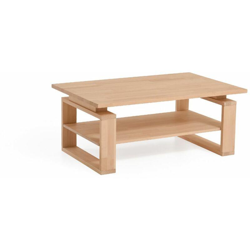 Fun Möbel - Couchtisch Tisch ANIBAL Wildeiche Massivholz 110x70 cm