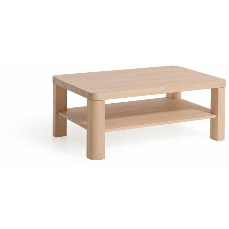 Fun Möbel - Couchtisch Tisch BENEN XL Eiche Massivholz 80x80 cm