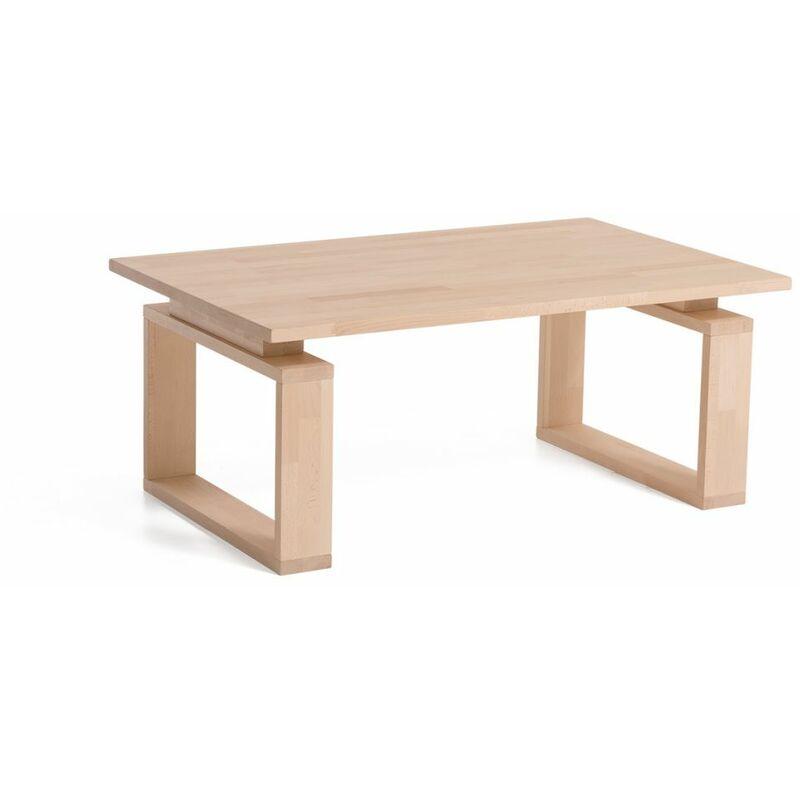 Fun Möbel - Couchtisch Tisch BIRGE Buche Massivholz 110x70 cm