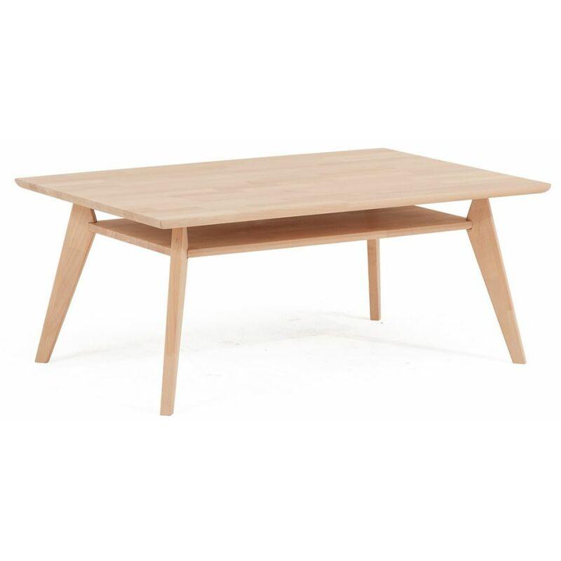 Fun Möbel - Couchtisch Tisch CARLOS Eiche Massivholz 120x80 cm
