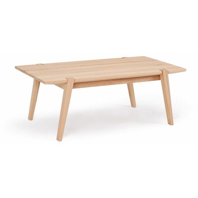 Fun Möbel - Couchtisch Tisch CESARE Kernbuche Massivholz 120x65 cm