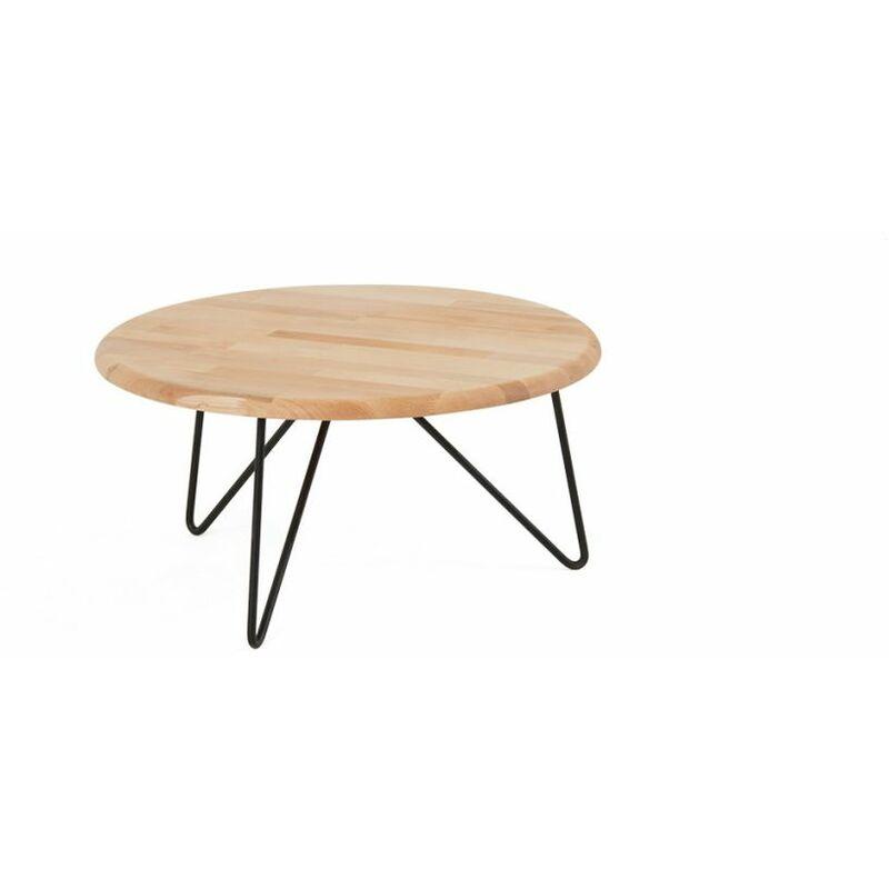 Fun Möbel - Couchtisch Tisch ELENA Eiche Massivholz 70x70 cm