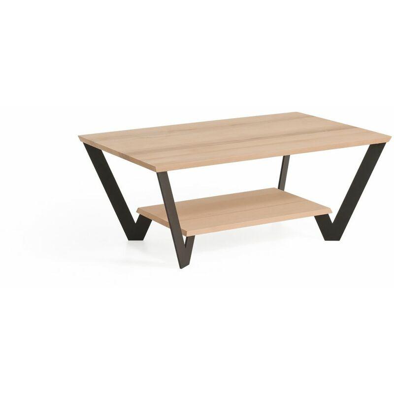 Fun Möbel - Couchtisch Tisch LIONEL Kernbuche Massivholz 80x80 cm