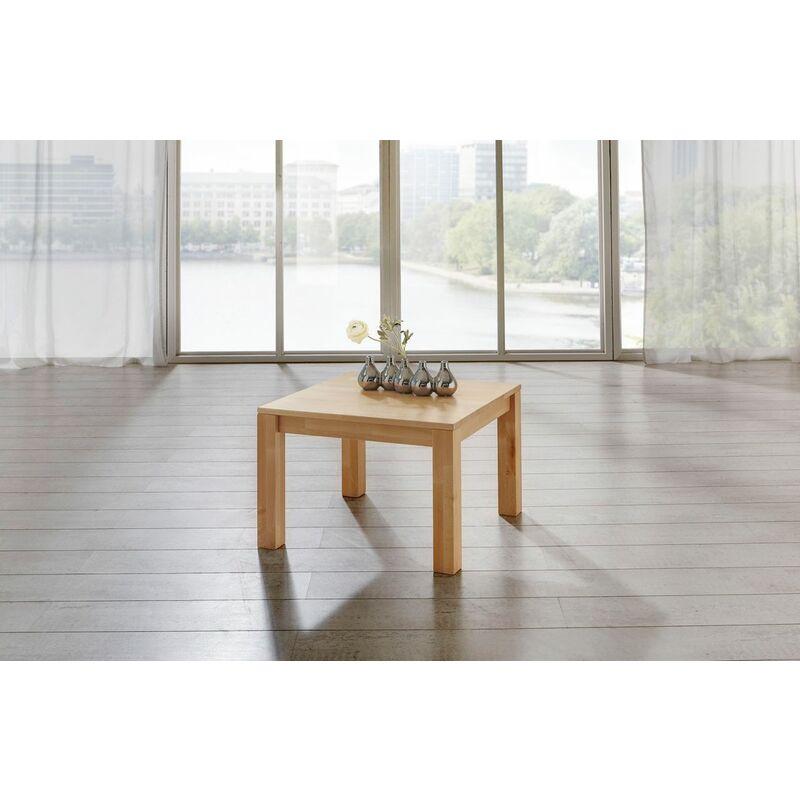 Fun Möbel - Couchtisch Tisch MALTE Buche vollmassiv / Echtholz 100 x 100 cm