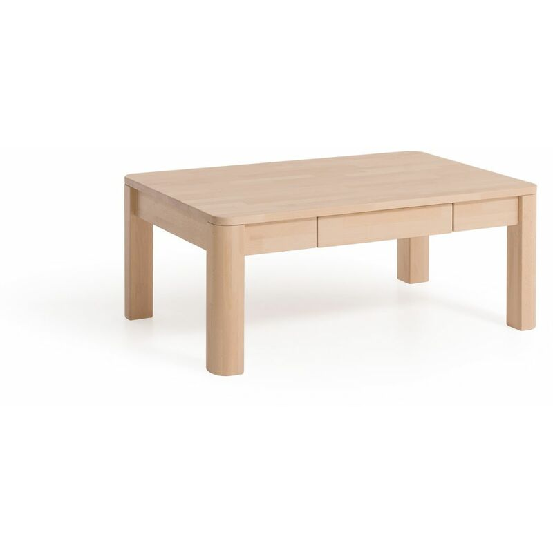 Fun Möbel - Couchtisch Tisch mit Schublade BENITO XL Eiche Massivholz 110x70 cm