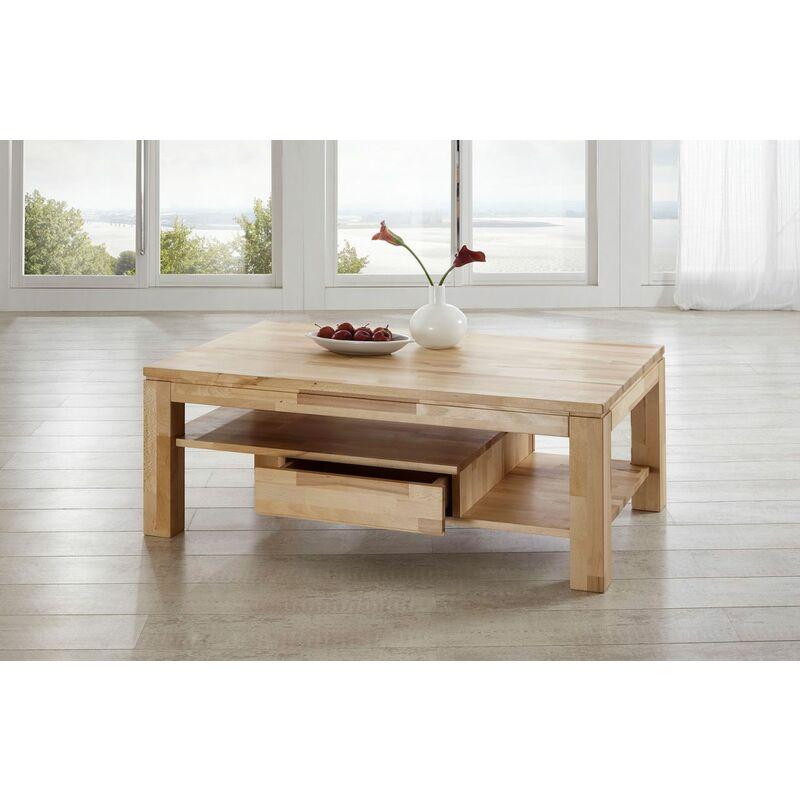 Fun Möbel - Couchtisch Tisch NIELS Wildeiche vollmassiv /Echtholz 120 x 80 cm