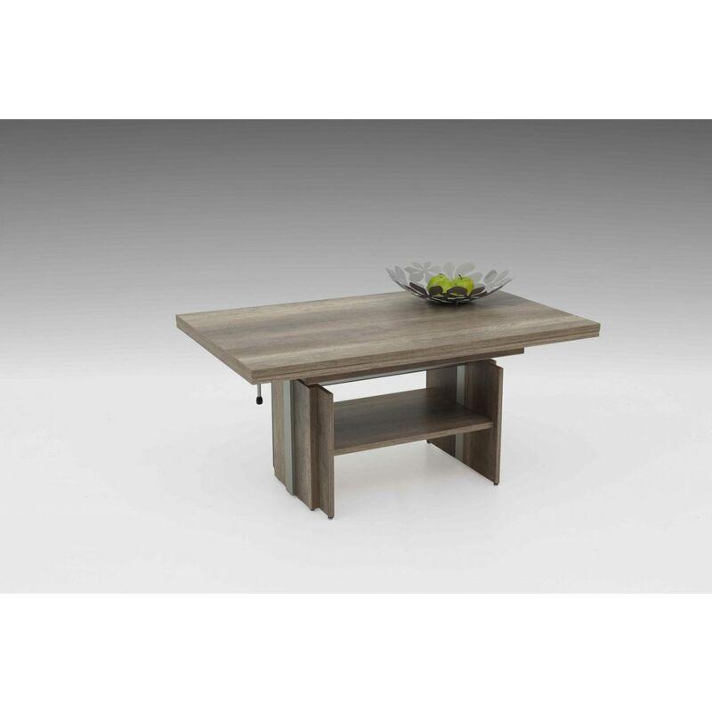 Couchtisch Tisch -Rom- 110- 177 x 68 cm Funktionscouchtisch -Monument Oak - FUN MOEBEL