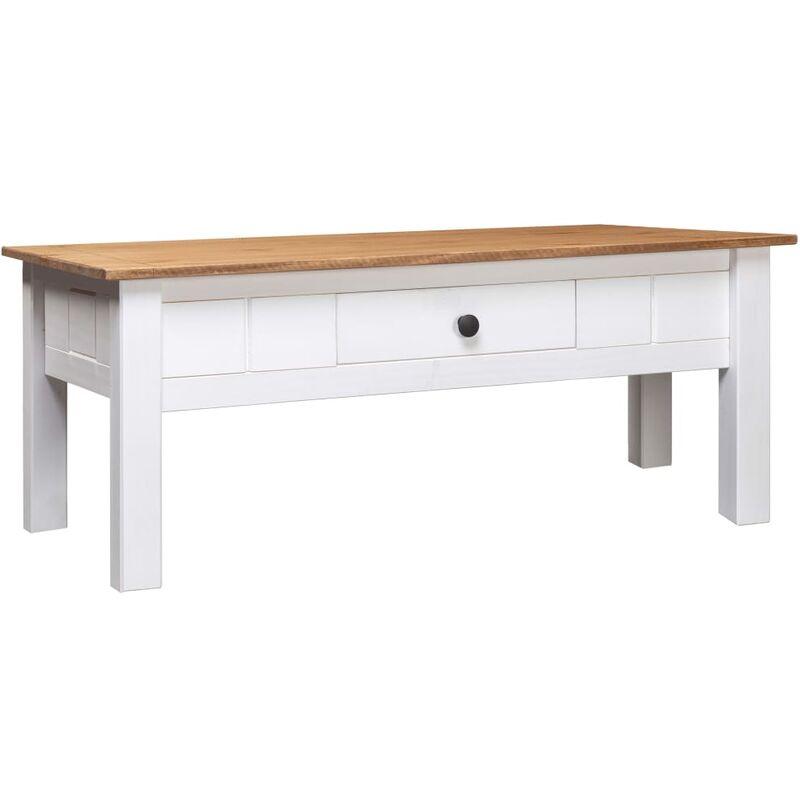 Couchtisch Weiß 100 x 60 x 45 cm Massivholz Panama-Kiefer - VIDAXL