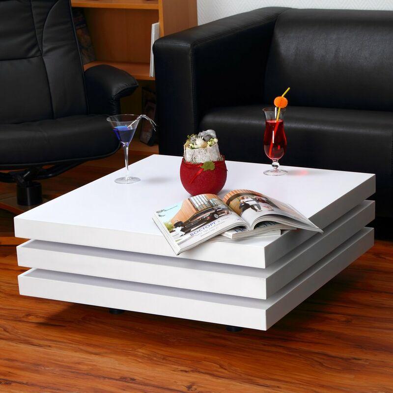 Mucola - Couchtisch Wohnzimmer Beistelltisch Sofatisch Kaffeetisch Wohnzimmertisch Tisch