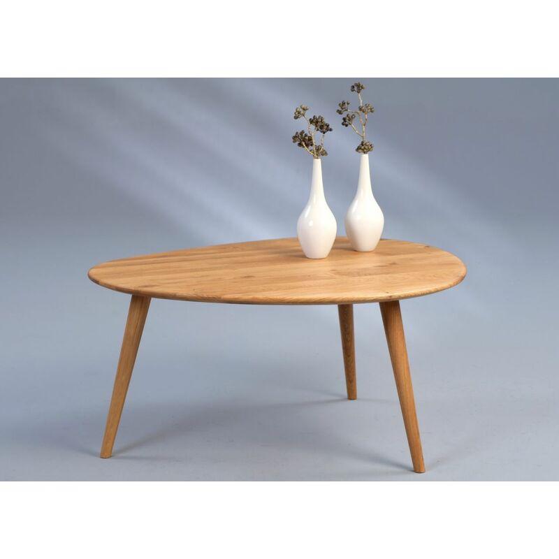 Fun Möbel - Couchtische Beistelltisch - Marit 1 -Wildeiche Massiv 90 x 72 cm