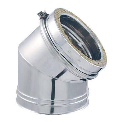 Coude 45° DPI INOX - Coude à 45° DPI Aluzinc - diamètre intérieur 153mm