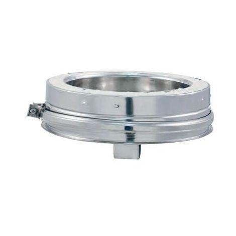 Coude 45° DPI INOX - Tampon / bouchon DPI Aluzinc - diamètre intérieur 200mm