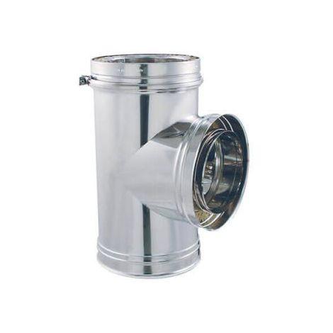 Coude 45° DPI INOX - Té 90° DPI Aluzinc - diamètre intérieur 153mm