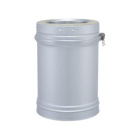 Coude 45° DPI INOX - Tuyau DPI aluzinc longueur 330mm / utile 277mm - diamètre intérieur 153mm