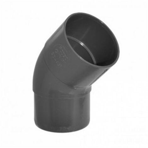 Coude 45° MF pvc Ø50mm - ardoise - dév.16cm GIRPI