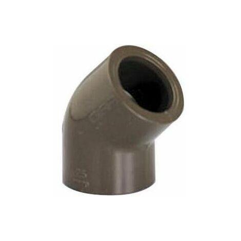 Coude 45° PVC HTA -chaleur- femelle/femelle D.40