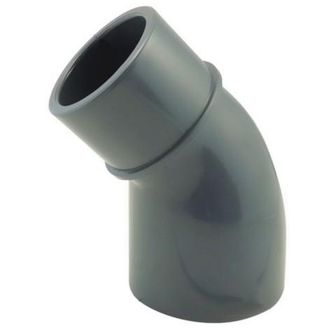 Coude 45° réduit PVC pression à coller MF - Générique - Plusieurs modèles disponibles