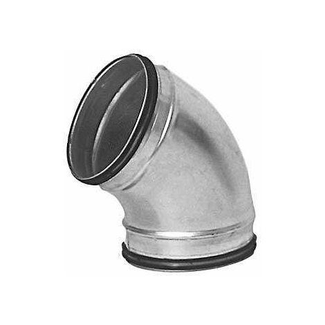 Coude 60° Galva D125 à joints - ECONONAME - COUD60GALD125J