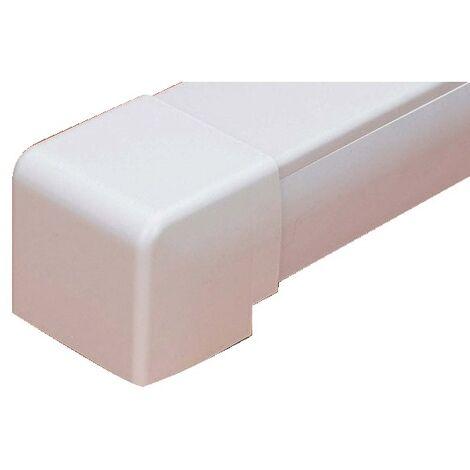 Coude 90° Exterieur Goulotte Super Optimal - blanc 9003 80x60
