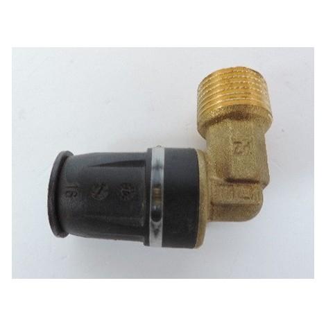 """Coude 90° mâle pour tube plomberie multicouche Ø 16mm M15X21 (16 x R 1/2"""") bi-matière laiton / PPSU TECELOGO TECE 8710302"""