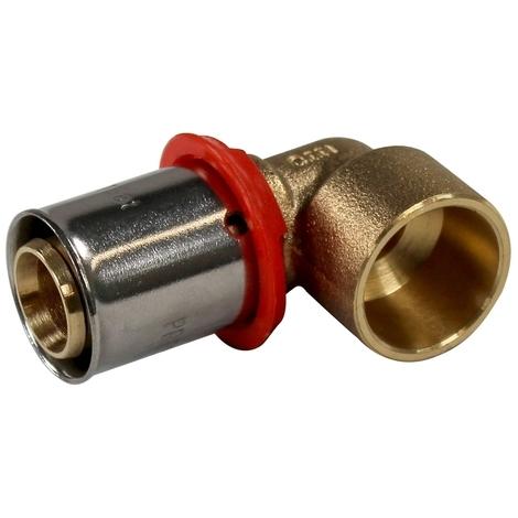 Coude 90° PER à sertir Ø20x1,9 - tube cuivre 16 à souder