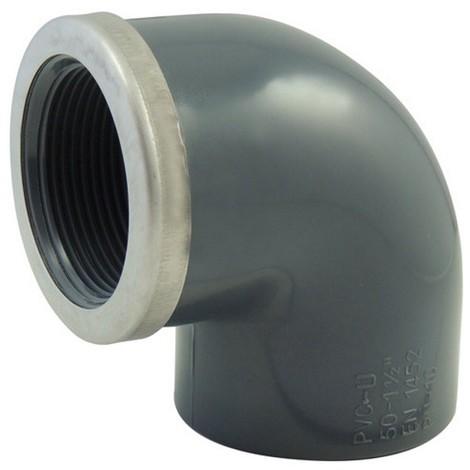 Coude 90° PVC pression à visser renforcé FF - Générique - Plusieurs modèles disponibles