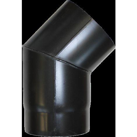 Coude à 45° acier noir - Ø 130
