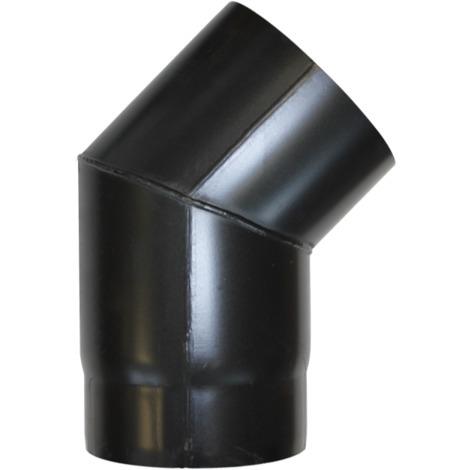 Coude à 45° acier noir - Ø 150