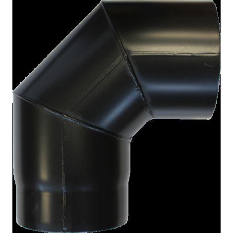 Coude à 90° acier noir - Ø 130