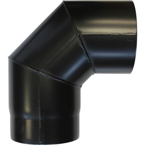 Coude à 90° acier noir - Ø 150