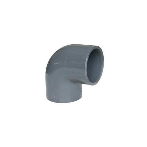 Coude à pression PVC 90° à coller - Diamètre 50 mm