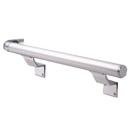 Coude aluminium 401 A finition anodisé argent pour main courante 540 S