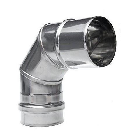 COUDE DE RACCORDEMENT PLISSE 90/° /Ø 139 mm DIAMETRE POUR CONDUIT TUBAGE POELE ET CHEMINEE