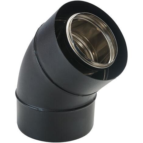 Coude concentrique BIOTEN 45° inox/galva O80/125