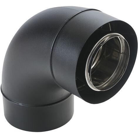 Coude concentrique BIOTEN 87° inox/galva O80/125