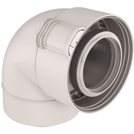 Coude condensation PPTL/PP Sekurit Ø60/100 - gaz/fioul
