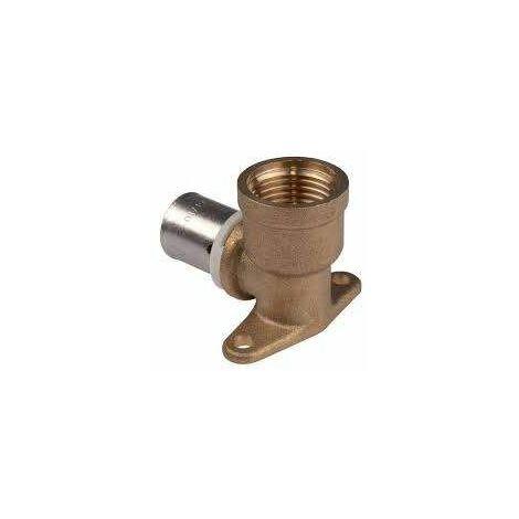 Coude court 35mm à sertir à applique pour système multicouches