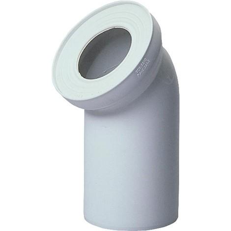 Coude de raccord WC DN110 45° blanc
