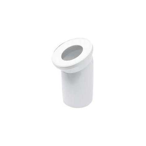 Coude de raccordement pour cuvette WC   Blanc, 21642 5