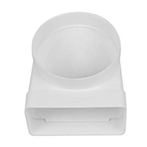 Coude d'extraction d'air Tube mixte ignifuge et auto-extinguible 90�x150Mm - 170Mm Polypropyl�ne Blanc Sist 150 Syr 0607