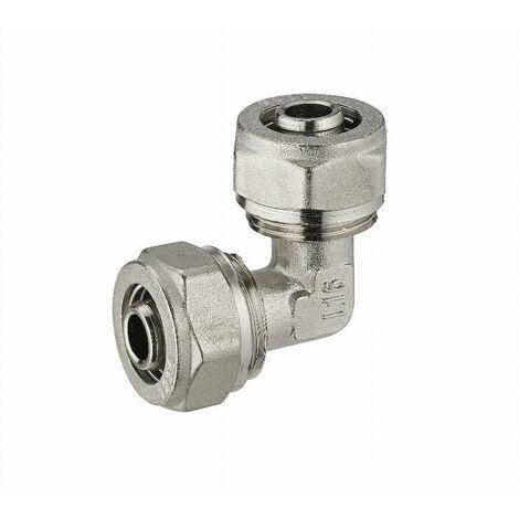 Coude égal à compression pour tube multicouche NOYON & THIEBAULT - Ø 20 mm - 3950-20L1