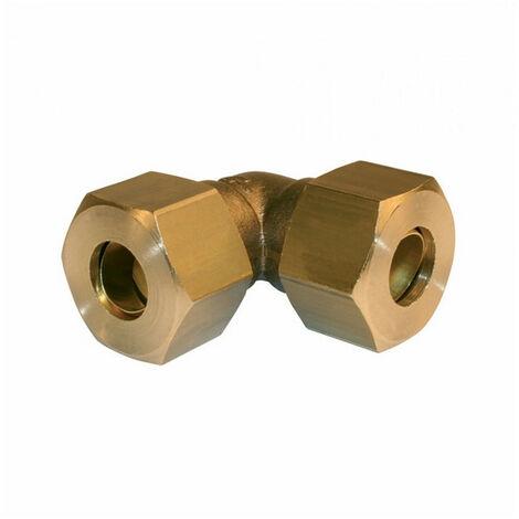 Coude égal laiton - bicone - pour tube cuivre - plusieurs modèles disponibles