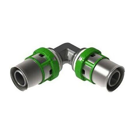 Coude égal laiton multicouche à sertir - Diamètre 26 mm - Comap