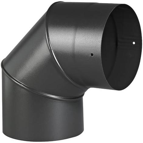 Coude émail noir mat 90° O200